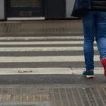 crossing a zebra crossing